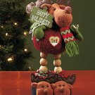New Decorative Moose Holiday Christmas Yarn Pal