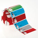 New 500 Christmas Gift Tag Stickers Decorated with Snowmen