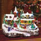 New Deluxe LED Lighted Color Changing Musical Village