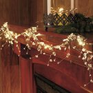 """New Clear 54"""" Battery Operated Lighted Crystal Garland"""