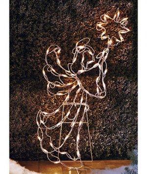 "New 42"" Metal Lighted Angel Holiday Christmas Yard Decor Figure"