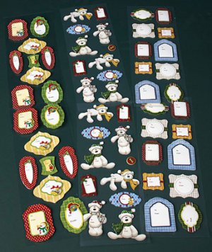 New 60-Pc. 3-D Specialty Gift Tag Set