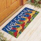 """New 14"""" x 34"""" Reindeer Welcome Christmas Holiday Coir Doormat Runner"""