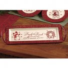 New Holiday Christmas  Snowman / Wreath Serving Tray