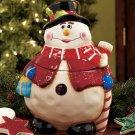 New Ceramic Snowman Holiday Treat Cookie Jar