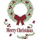 New Holiday Window and Wall Vinyl Green Wreath Appliqué