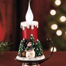 New Holiday Battery Operated Lighted Snowman Candle