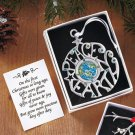 New Metal Peace on Earth Pewter Finished Ornament