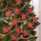 New Set of 12 Humorous Star Christmas Tree Ornaments