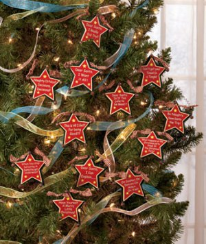 New Set of 12 Humorous Star Christmas Tree Ornaments