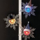 New Set Of 3 Color-Changing Snowman Snowflakes
