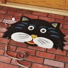 New Black Cat Shaped Fall Doormat