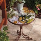New Stained Glass Butterfly Accent Iron Table