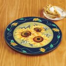 New Sunflower Design Wooden Rotating Lazy Table Top Kitchen Susan Server