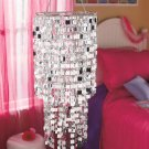 New Chic Icicles Ready To Hang Metal and vinyl Chandelier