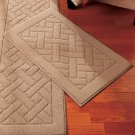 """New Nonskid Tan 18"""" x 30"""" Accent Rug"""