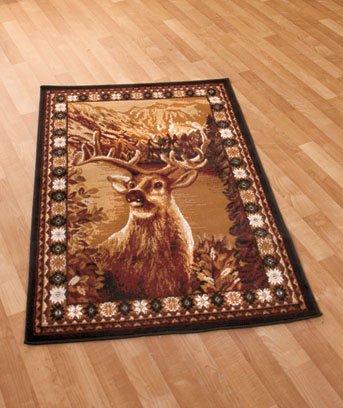 "New Wildlife Hunting Deer 39"" x 59"" Decorative Rug"