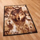 """New Wildlife Hunting Wolves 39"""" x 59"""" Decorative Rug"""
