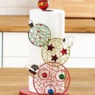 New Metal Christmas Holiday Ornament Kitchen Paper Towel Holder