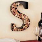 New Metal Monogram Wine Cork Holder Letter S