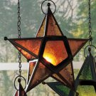 New Metal & Glass Gold Hanging Star Candleholder (1)