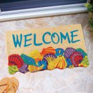 "New 18"" x 30"" Shaped Novelty Coir Welcome Seashells Doormat"