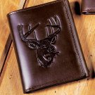 New Deer Genuine Leather Tri-Fold Wallet