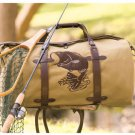 New Outdoorsman Bass Fish Canvas Brown and Tan Duffel Bag Tote