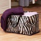 New Polyester Zebra Print Black / White Stuff Storage Bin