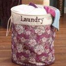 New Polyester Purple Flower Laundry Room Storage Bin Hamper