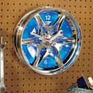 New Battery Operated Rim Hub Wall Clock with Blue LED Light