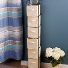 New Metal Natural With Bronze Frame Rack 6-Bin Storage Organizer Unit