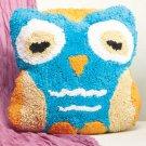 New Aqua Blue & Orange Owl-Shaped Bed Pillow
