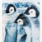 New Plush Animal Lovers' Black and White Penguins Polyester Throw Blanket