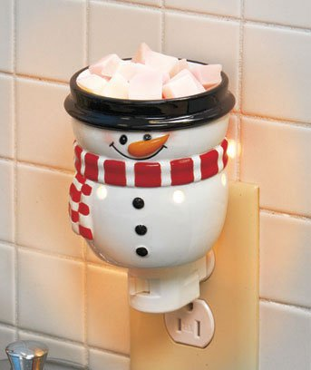 New Christmas Holiday Snowman Tart Warmer Night Light