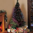 New  6-Ft. Color Changing Fiber-Optic Christmas Holiday Tree