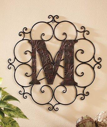 New Metal Monogram Wall Art Hanging Letter M