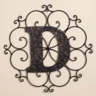New Metal Monogram Wall Art Hanging Letter D