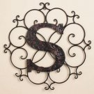New Metal Monogram Wall Art Hanging Letter S