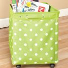 New Lime Green With Dots Rolling Jumbo Storage Bin