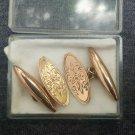 Victorian 9K 9ct Rose Gold Hand Etched Carved Design Cufflinks JA&S 5.39gr Vtg