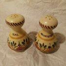 A.H Puente Vintage Pottery Salt Pepper Shakers Spain Hand Painted Sal Pimienta