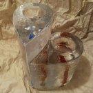 Kosta Boda Two Sweethearts Candle Votive Holders Kjell Engman Sweet Heart Glass
