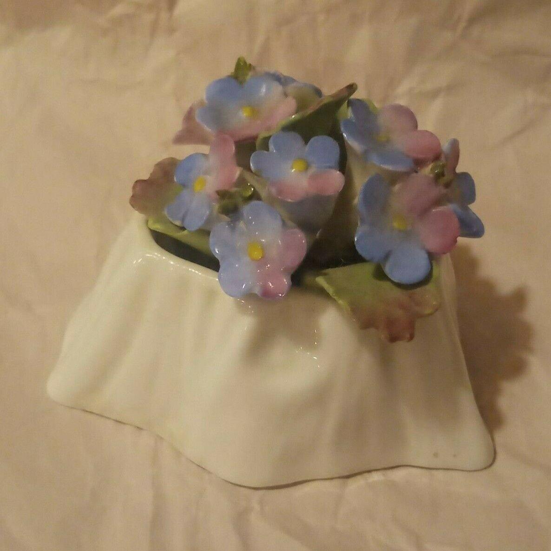 Vtg Aynsley Fine Bone China Hand Modelled Forget Me Not Flowers England Floral