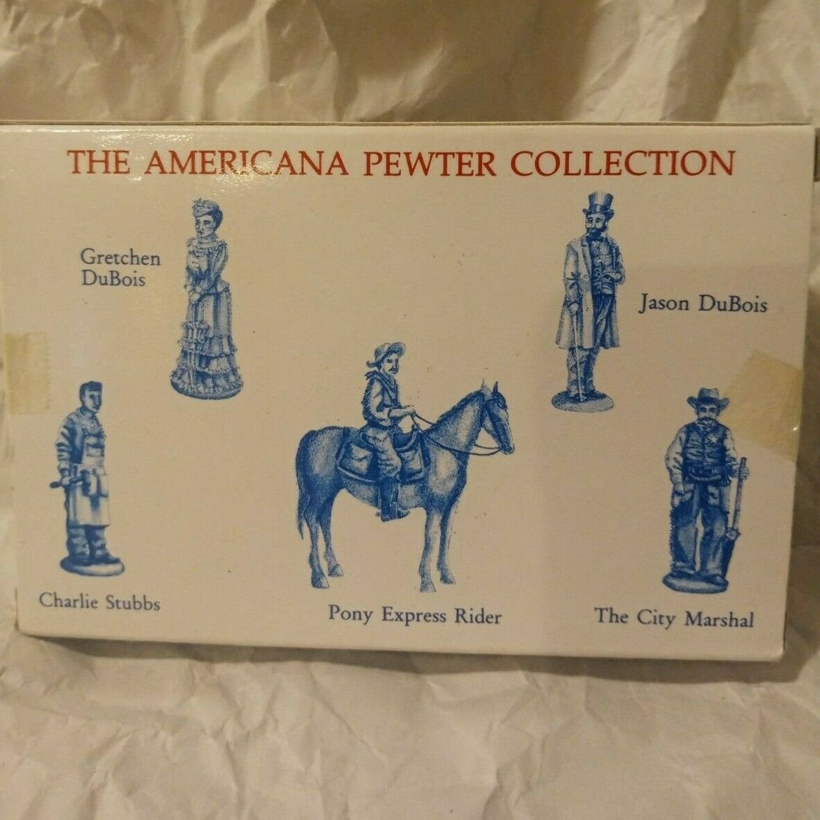 1992 Americana Pewter Collection AH19 Pony Express Rider Figurine Village People