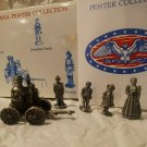 The Americana Pewter Collection Fire Station Pumper AH18 5 Pcs Village Figurines