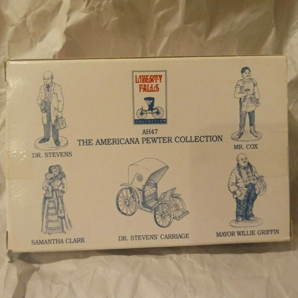 Liberty Falls Americana Pewter Collection AH47 Dr. Stevens' Carriage Figurines