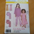 Simplicity 1722 Childs Girls Lounge Dress Top Pants Sz 3 4 5 6 Learn to Sew New