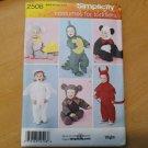 INFANT TODDLER SIMPLICITY 2506 Sewing Pattern HALLOWEEN COSTUME Sz 1/2-4 Asst