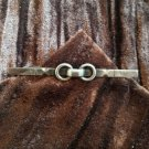Vintage or Antique Sterling Silver MCM Mid Century Modern Solid Bar Pin Brooch
